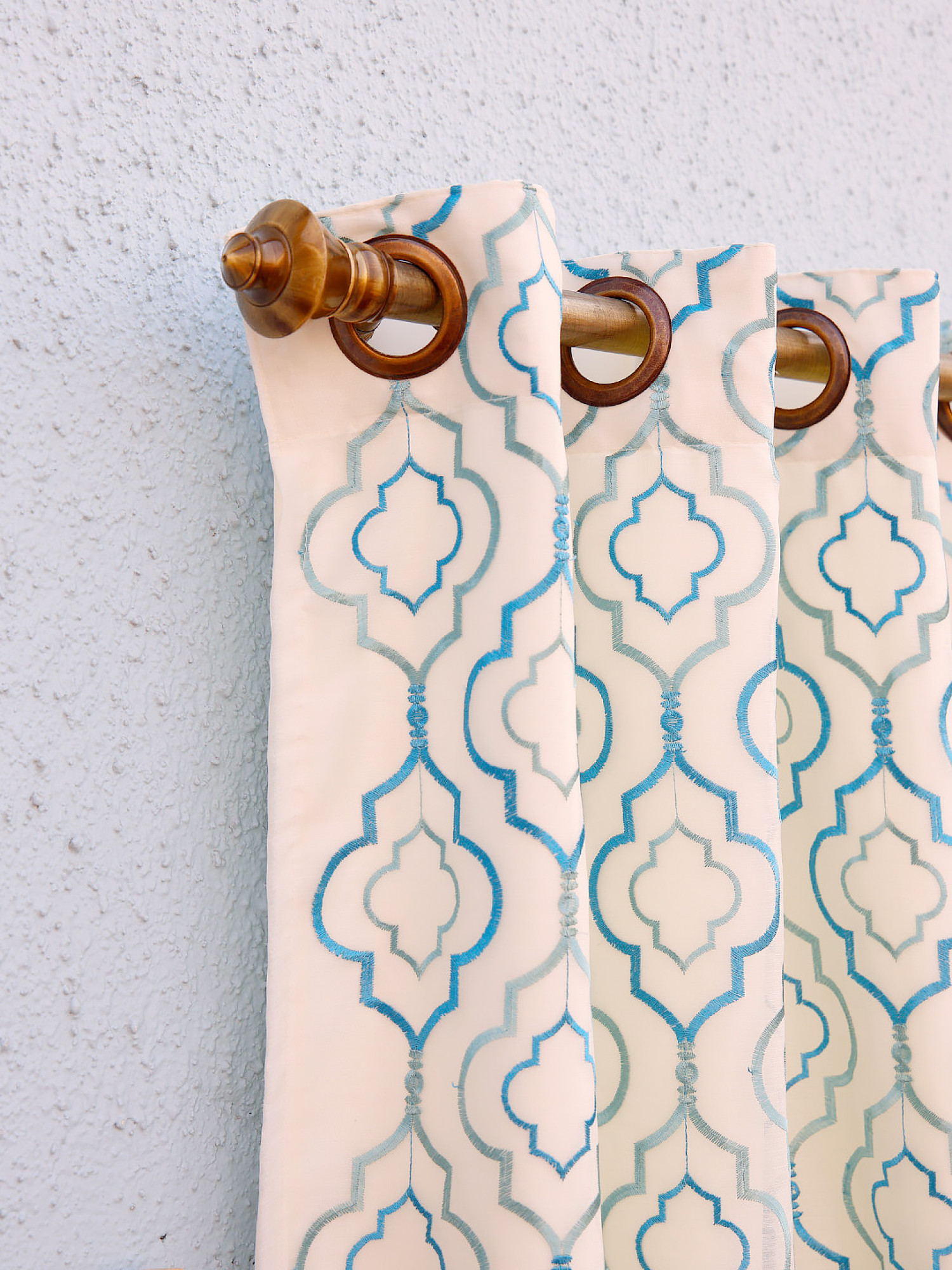 2 in 1 Geranium Moroccan Curtain