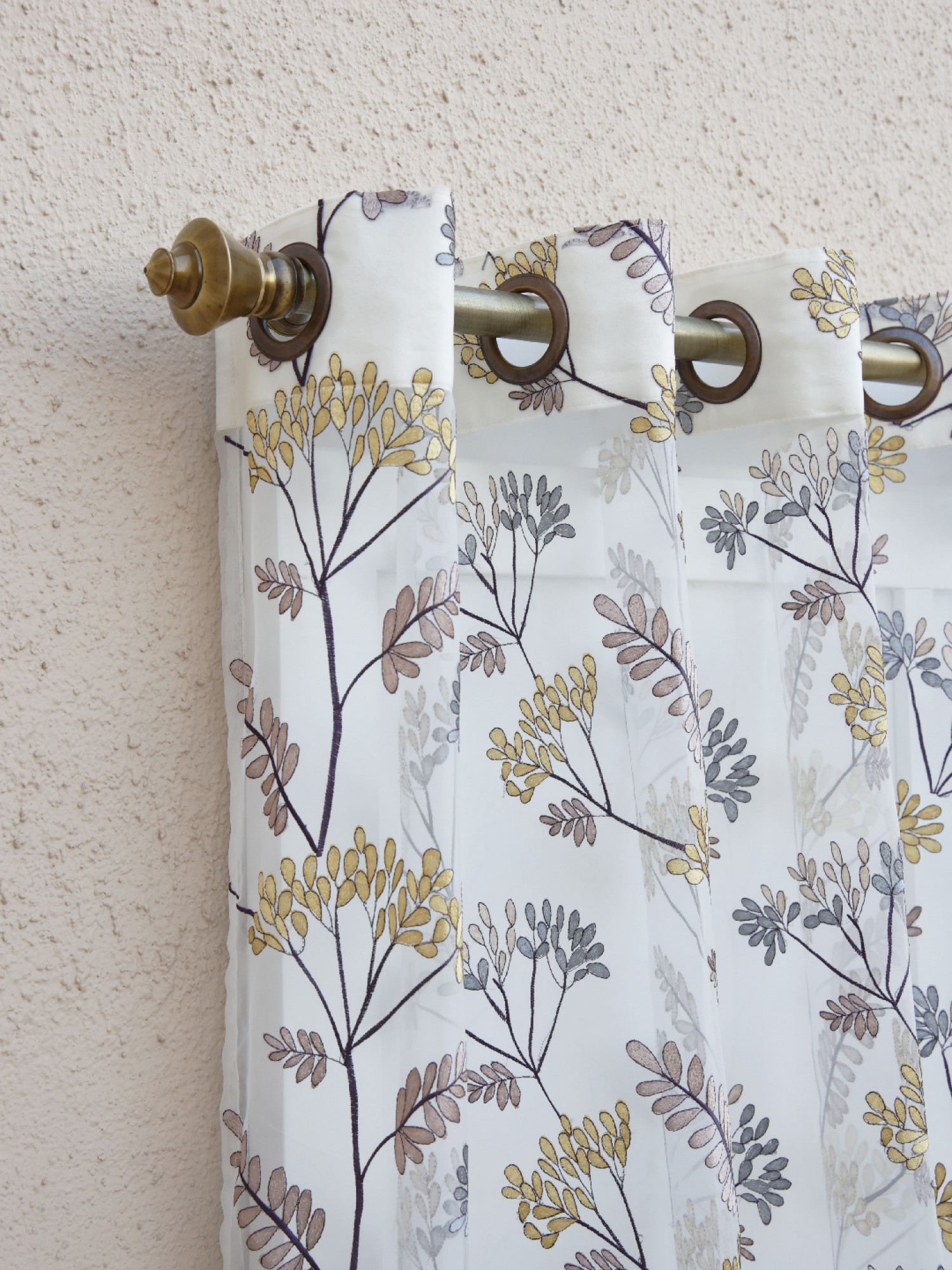 Morning Glory Floral Sheer Curtain