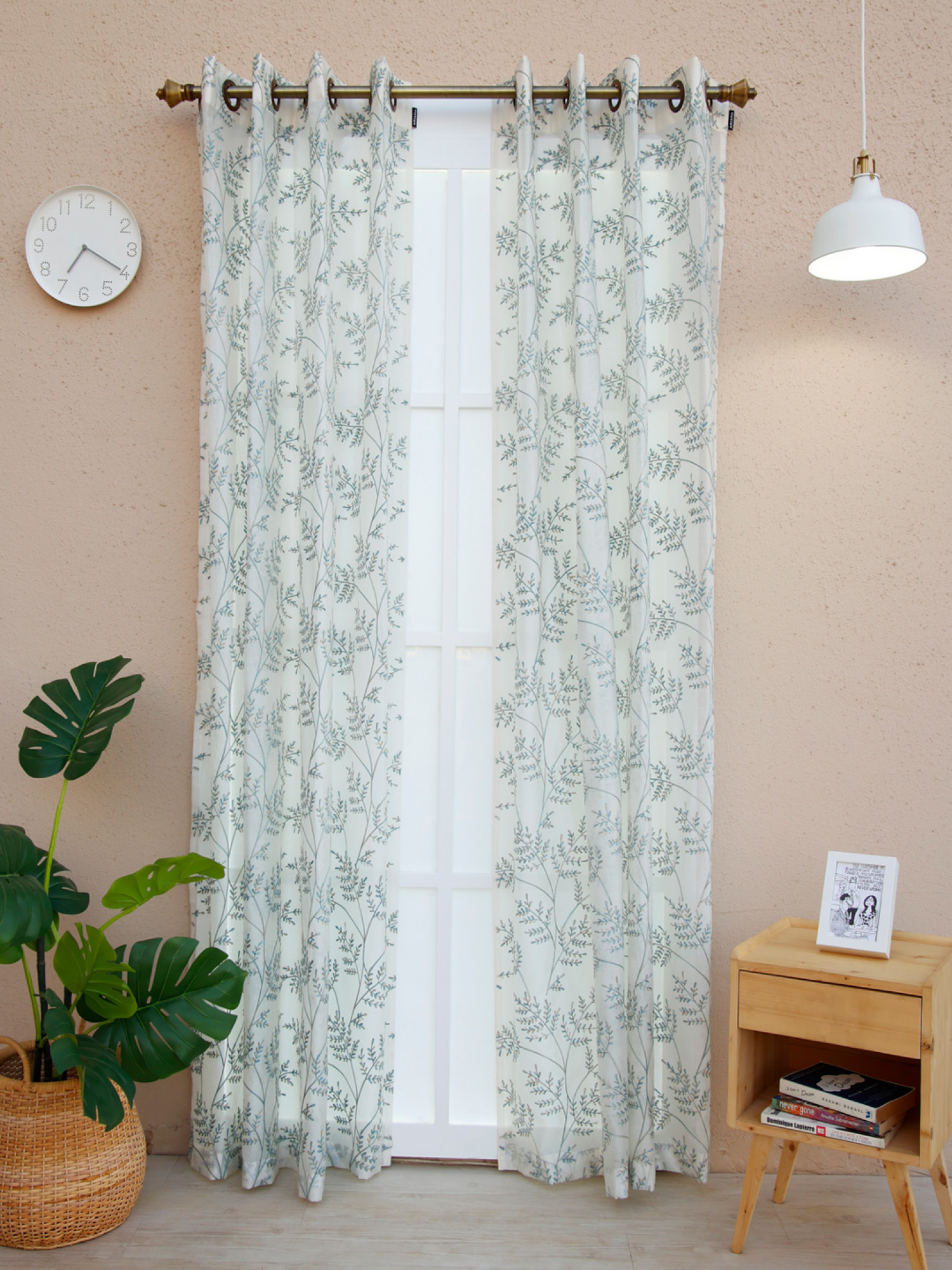 Buttercup Floral Sheer Curtain