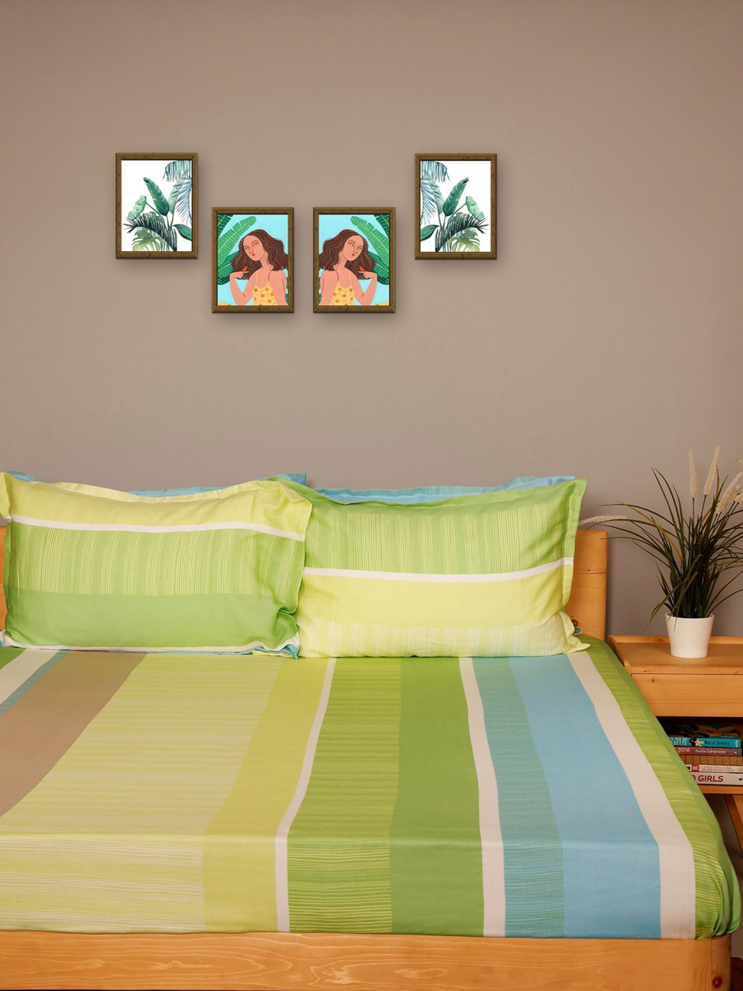 Geometric Printed Bedsheet