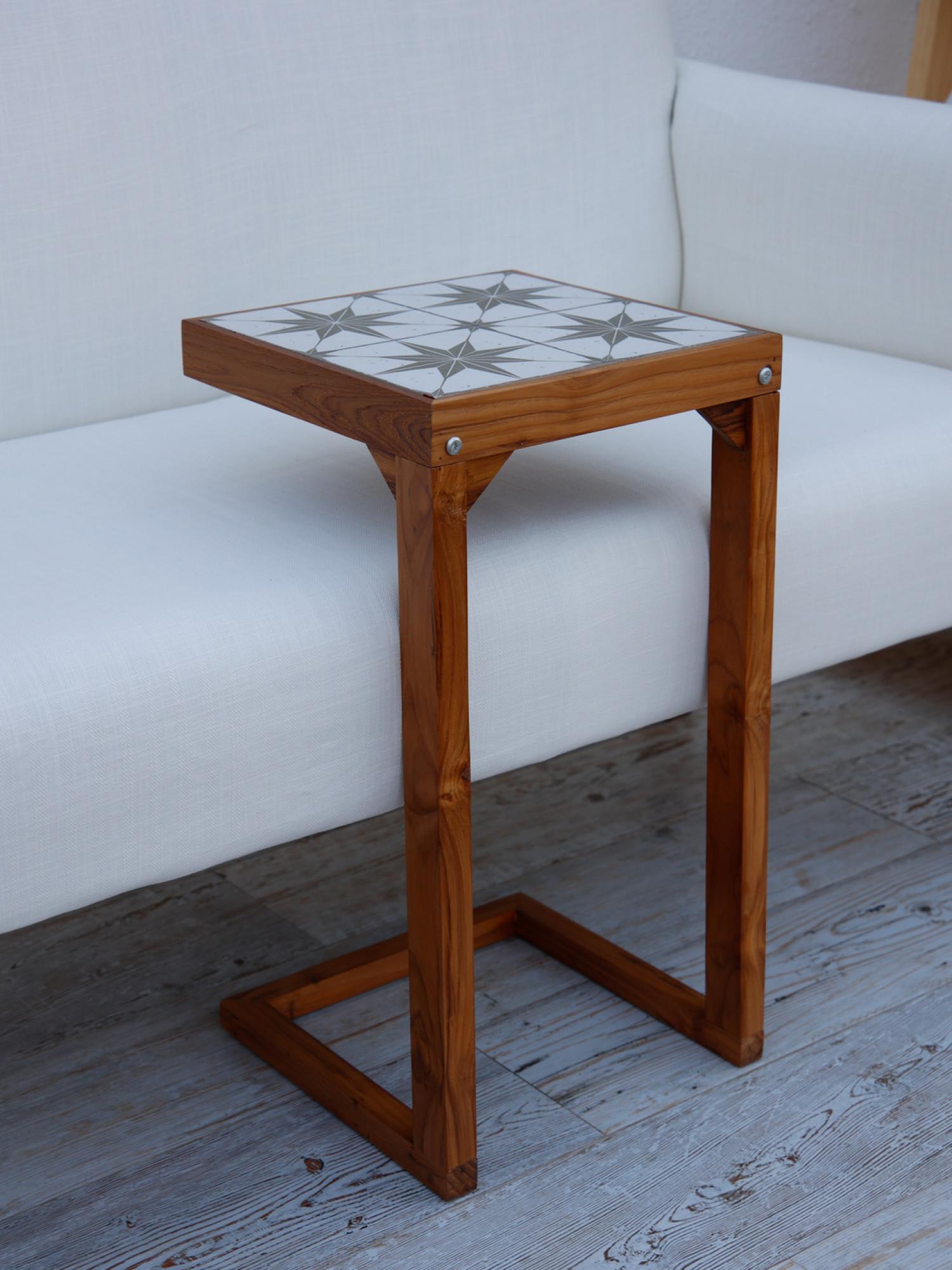 Positano Tiles & Teak C-Table