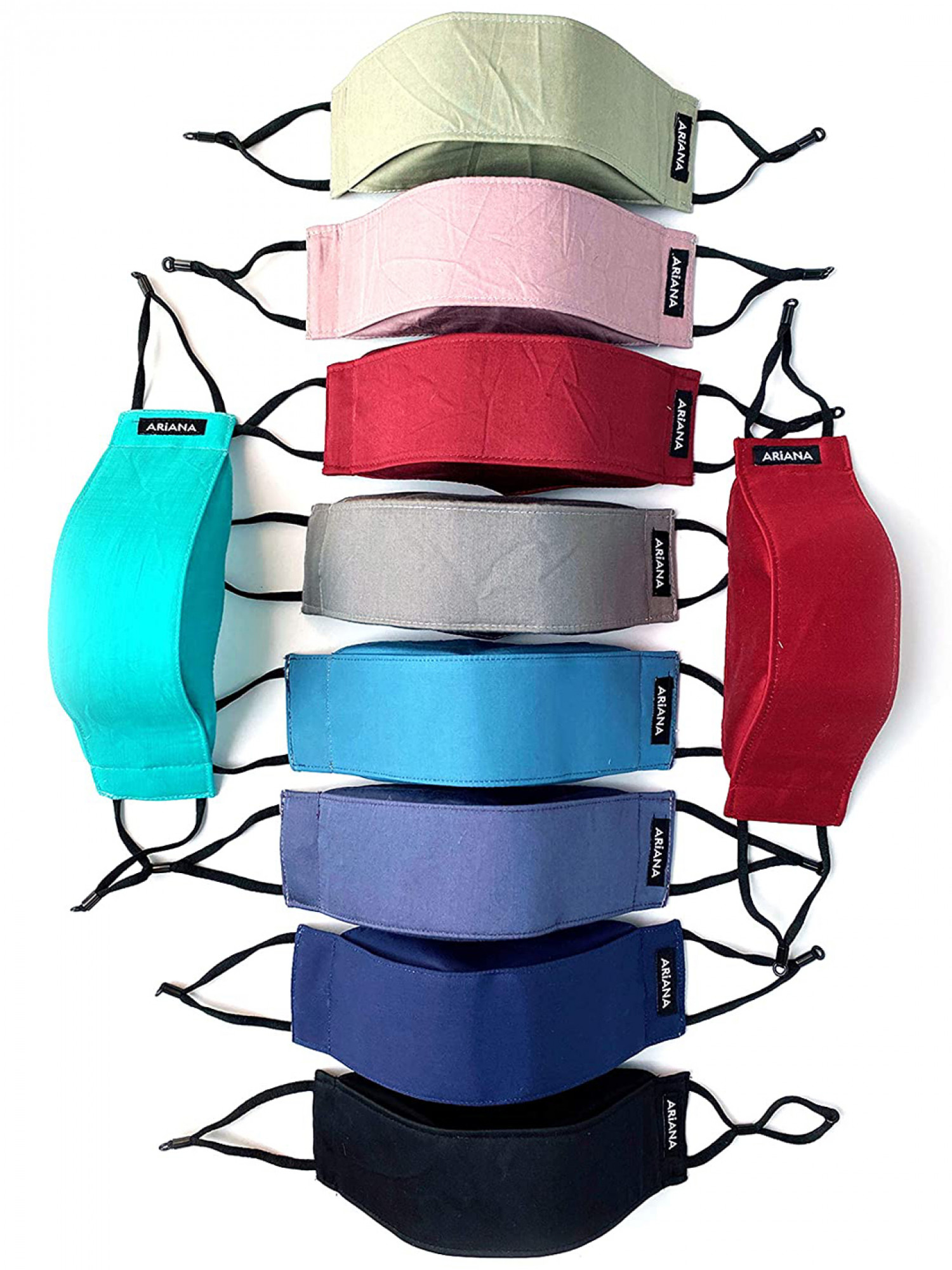 3D Solid Dark Colours - 7 Layer Mask 99% Safe