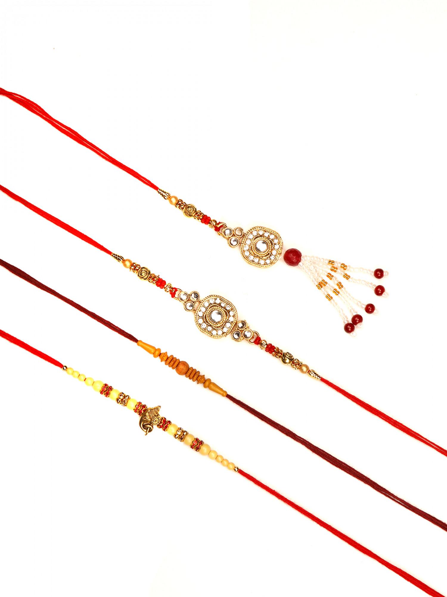 Designer Bhaiya Bhabhi Rakhi - Set of 4