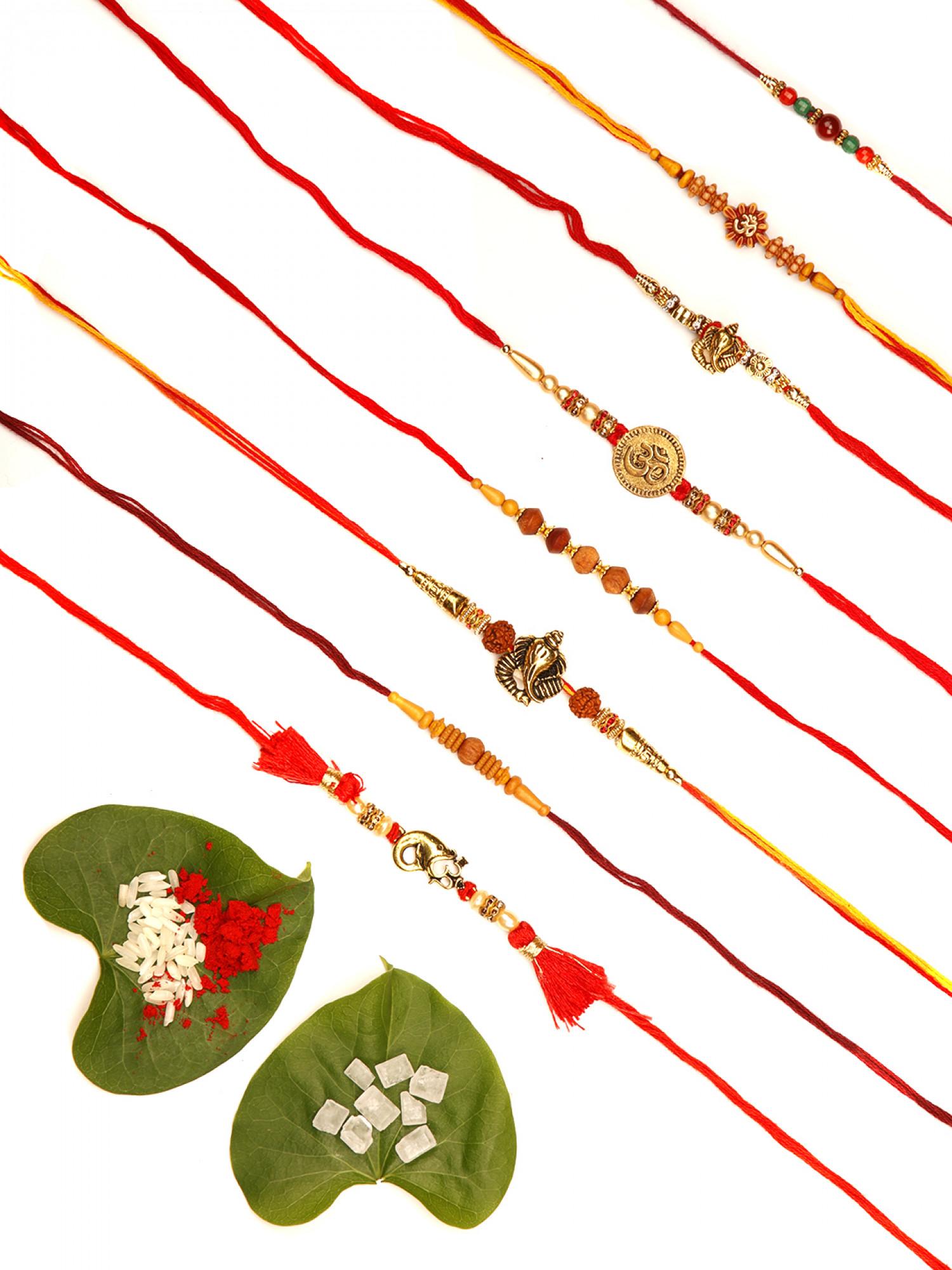 Designer Rakhi - Set of 8
