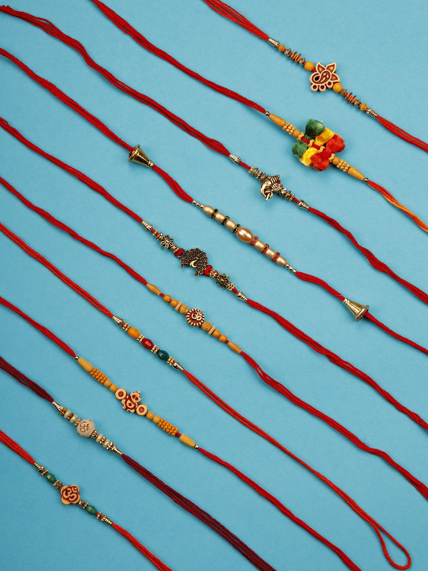 Designer Rakhi - Set of 10